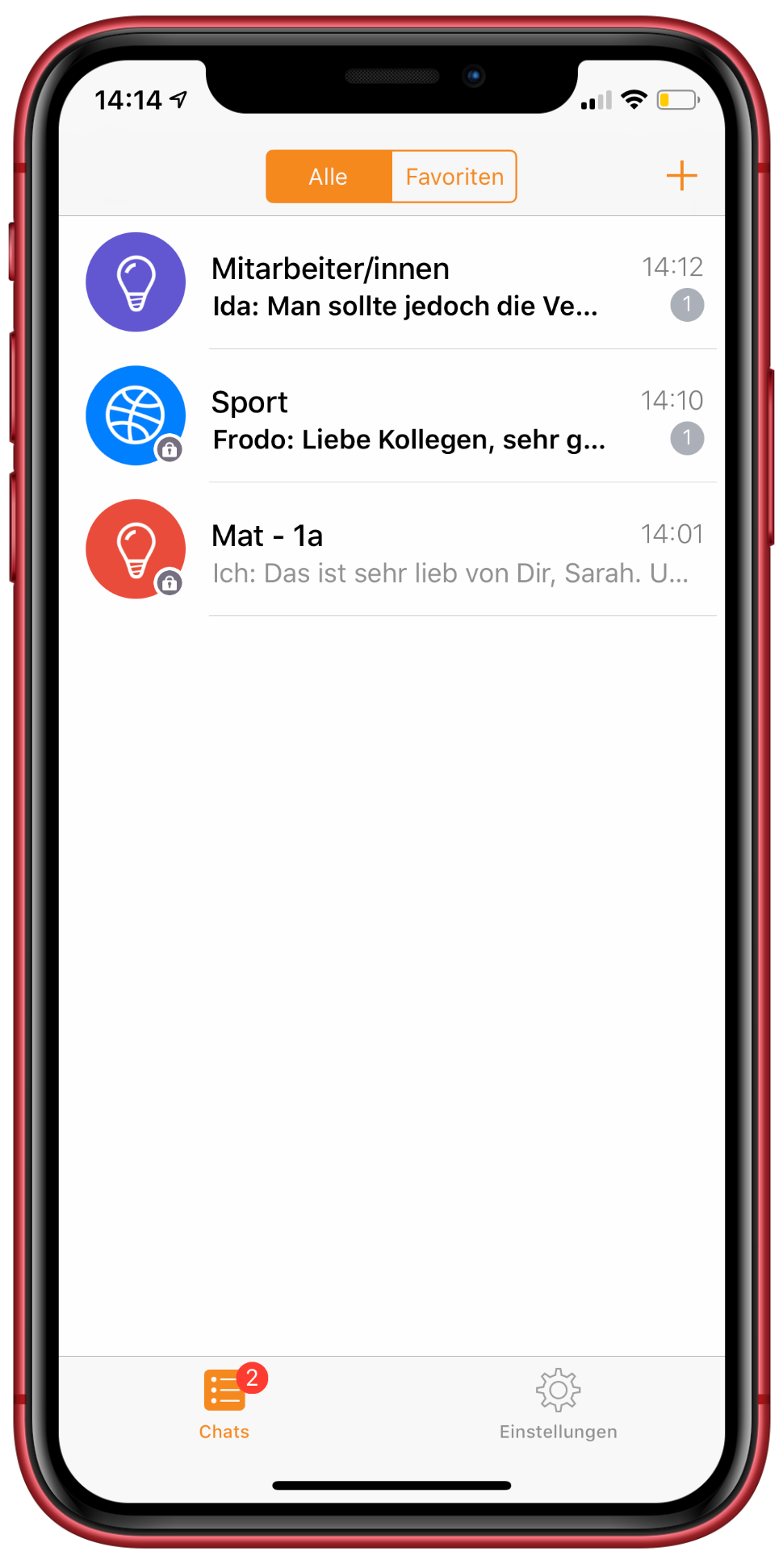 Untis Messenger